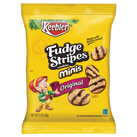 Keebler Fudge Stripes Bite Size Mini Cookies 56g