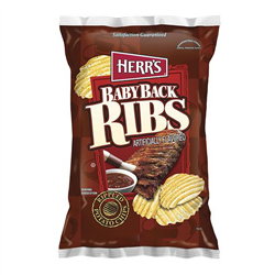 Herr's Baby Back Ribs Potato Chips