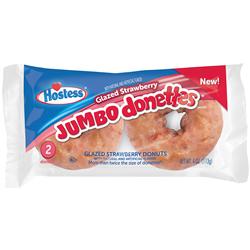 Hostess Jumbo Glazed Strawberry Donettes 2ct (113g)