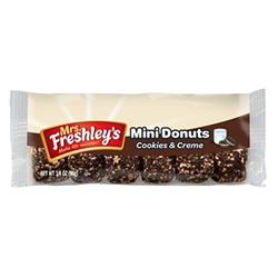 Mrs Freshley's Cookies and Creme Mini Donuts 96g