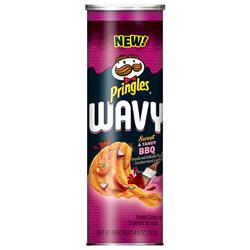 Pringles Wavy Sweet & Tangy BBQ (137g)