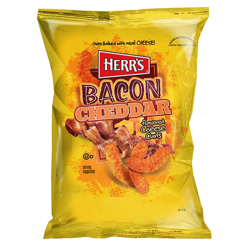 Herrs Bacon Cheddar Cheese Curls 199g