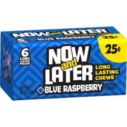 Now & Later Blue Raspberry - 6 Pcs