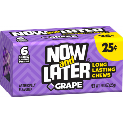 Now & Later Grape - 6 Pcs