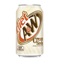 A&W Diet Cream Soda 355ml